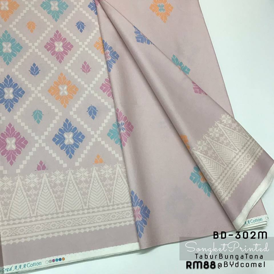 KAIN PASANG SONGKET COTTON BD302M B