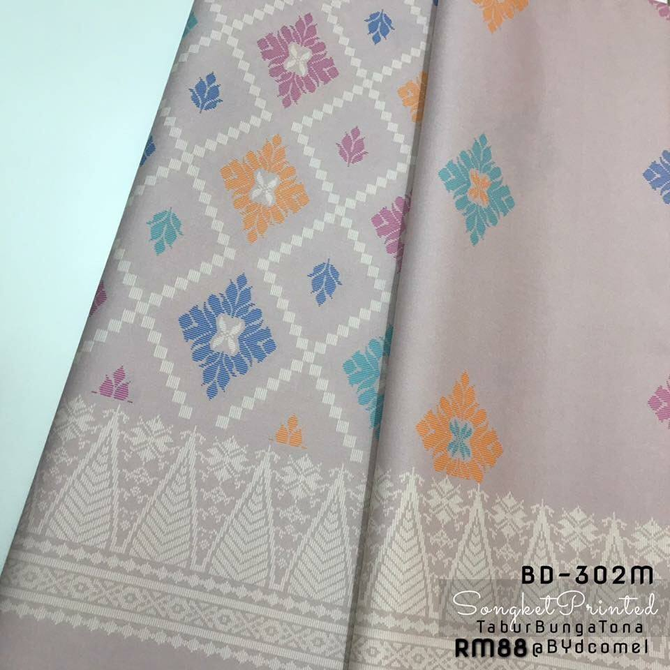 KAIN PASANG SONGKET COTTON BD302M D