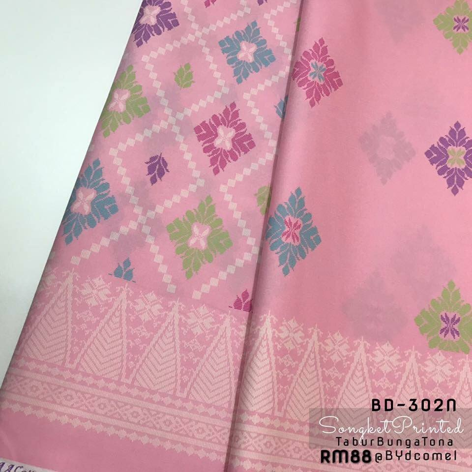 KAIN PASANG SONGKET COTTON BD302N D