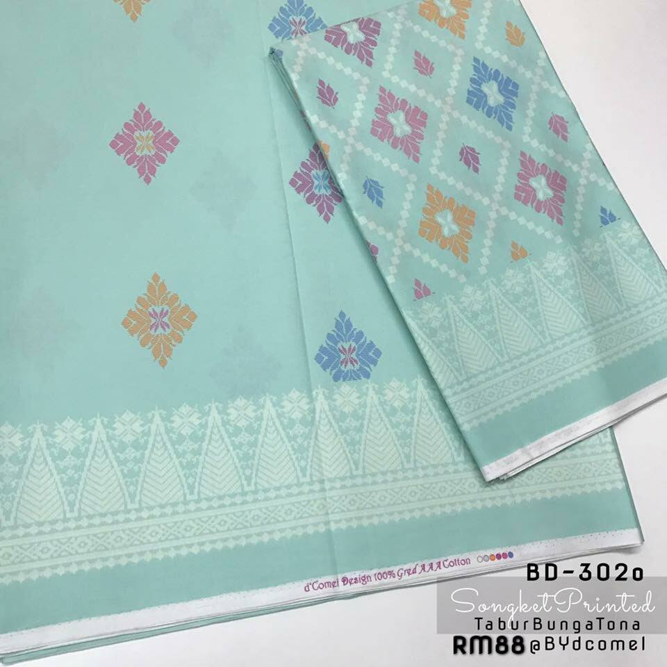 KAIN PASANG SONGKET COTTON BD302O B