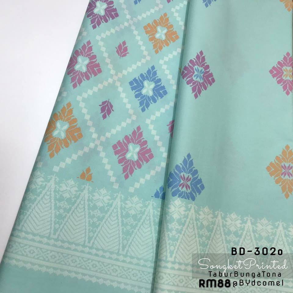 KAIN PASANG SONGKET COTTON BD302O C