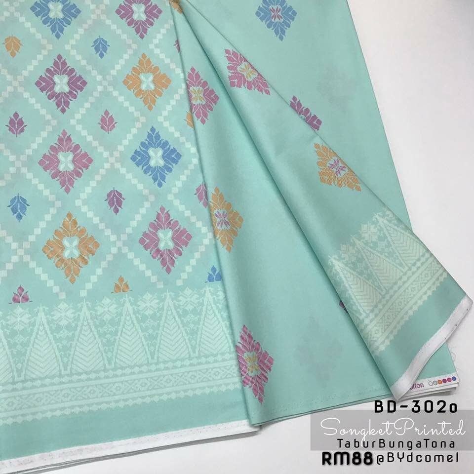 KAIN PASANG SONGKET COTTON BD302O