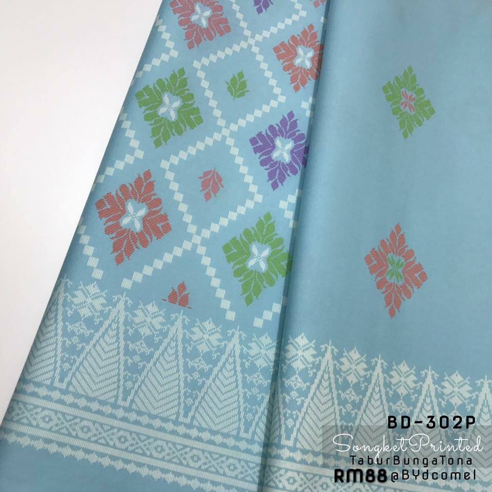 KAIN PASANG SONGKET COTTON BD302P D