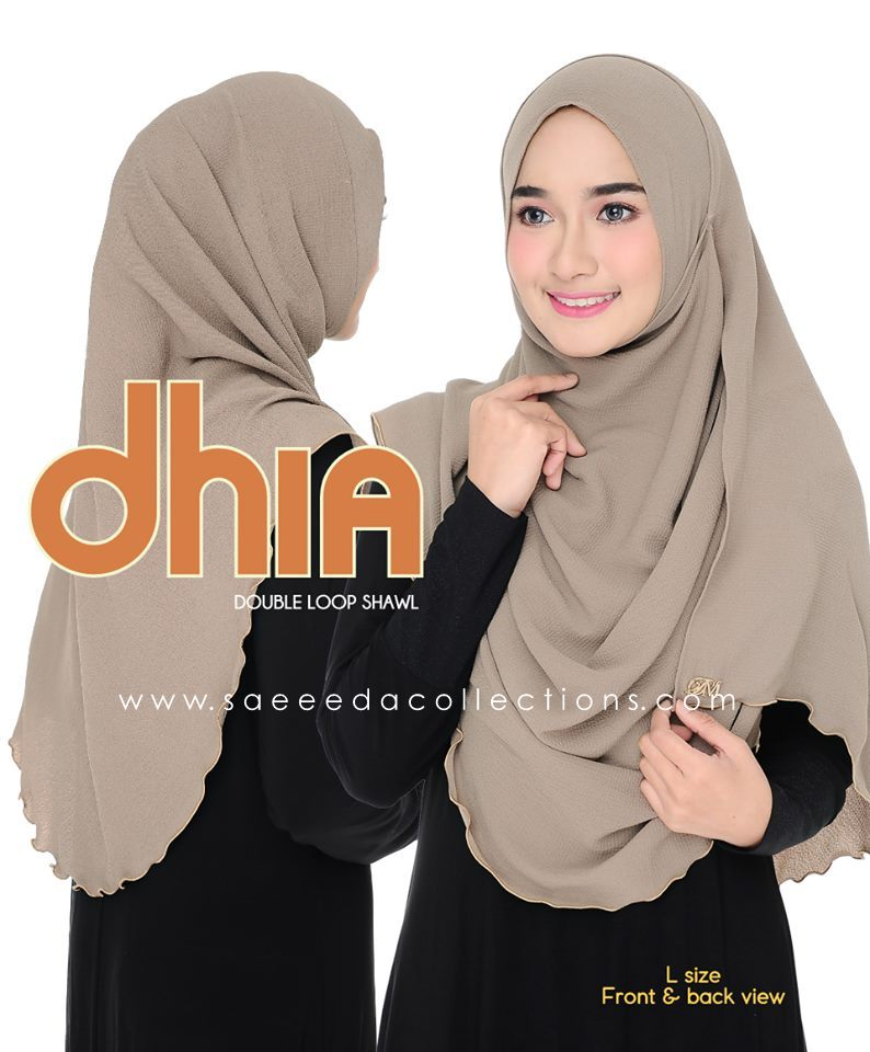 SHAWL DOUBLE LOOP CHIFFON DHIA SAIZ L FULL