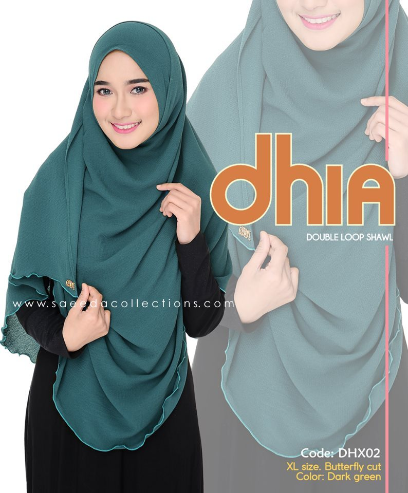 SHAWL DOUBLE LOOP CHIFFON DHIA SAIZ XL DHX02