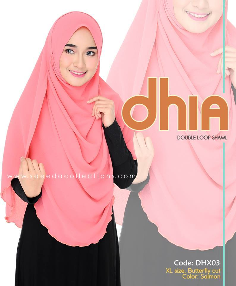 SHAWL DOUBLE LOOP CHIFFON DHIA SAIZ XL DHX03