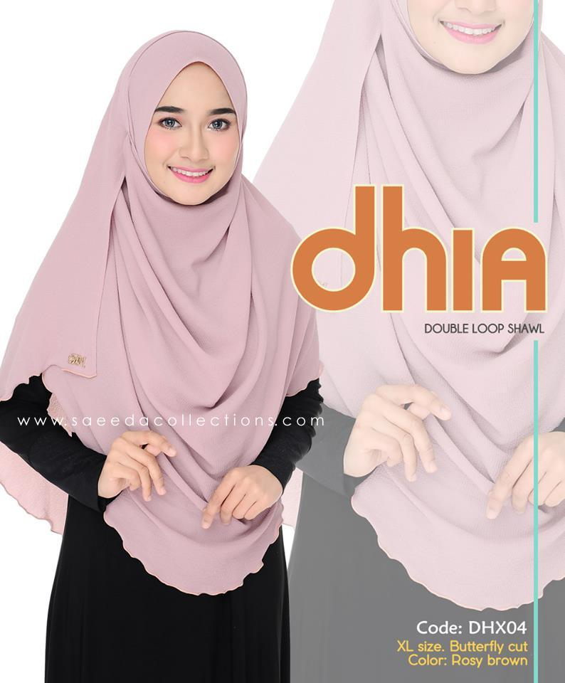 SHAWL DOUBLE LOOP CHIFFON DHIA SAIZ XL DHX04