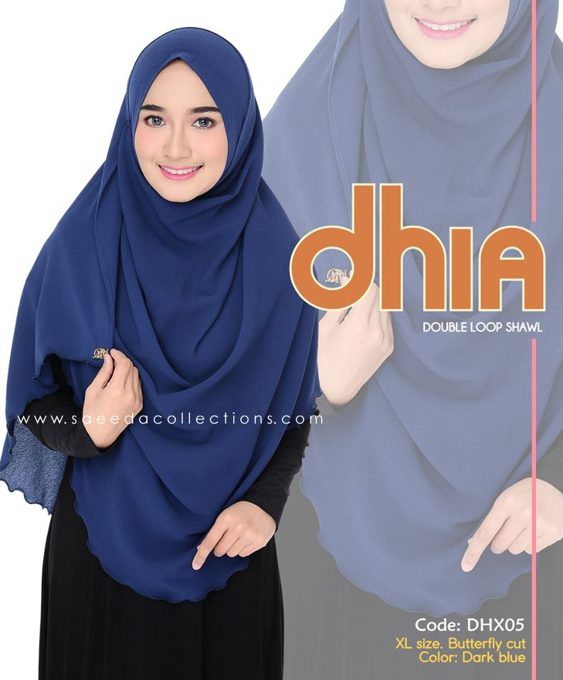SHAWL DOUBLE LOOP CHIFFON DHIA SAIZ XL DHX05