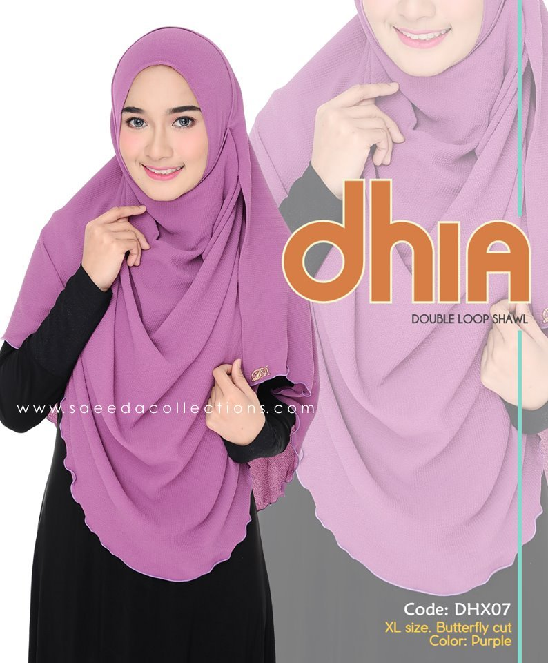 SHAWL DOUBLE LOOP CHIFFON DHIA SAIZ XL DHX06
