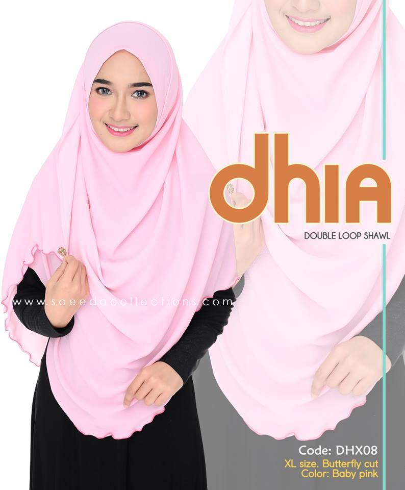 SHAWL DOUBLE LOOP CHIFFON DHIA SAIZ XL DHX07