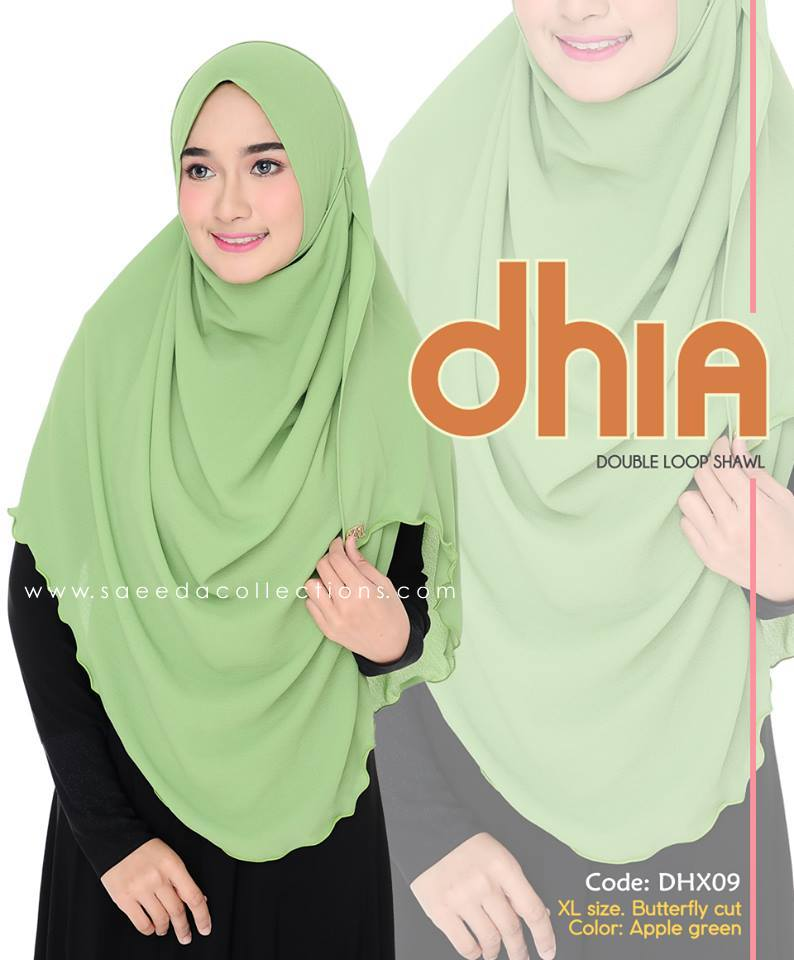SHAWL DOUBLE LOOP CHIFFON DHIA SAIZ XL DHX09