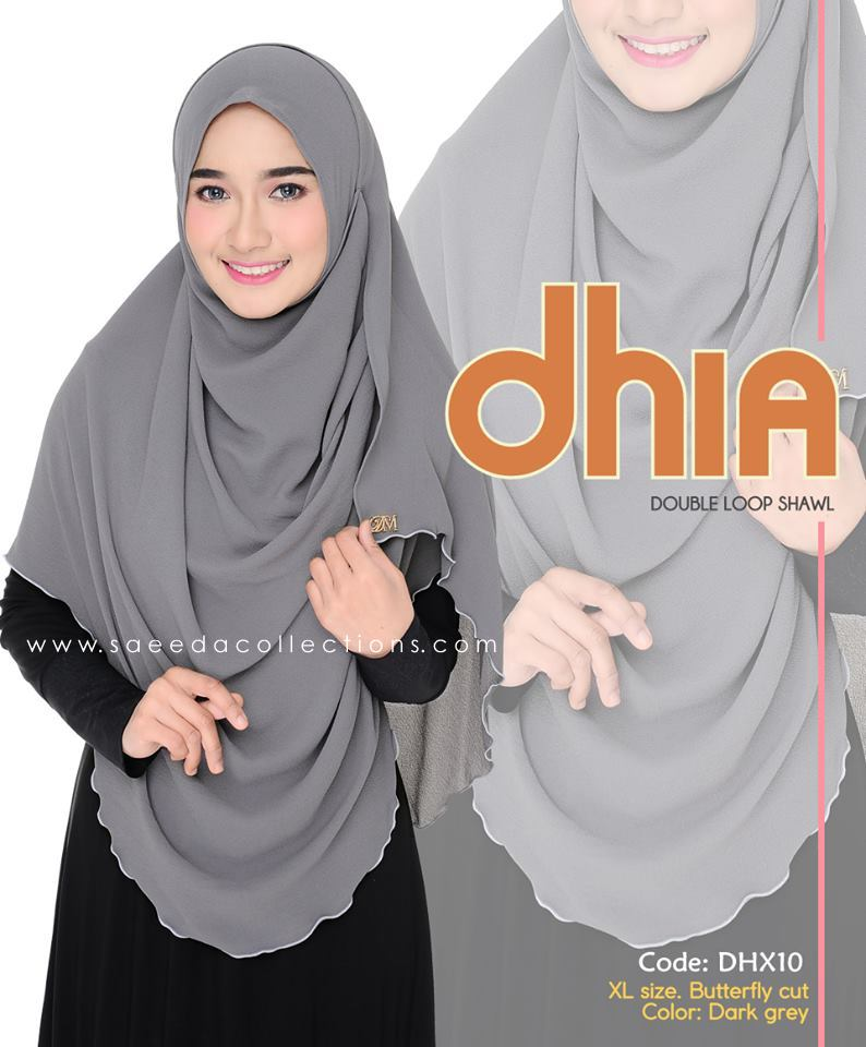SHAWL DOUBLE LOOP CHIFFON DHIA SAIZ XL DHX10