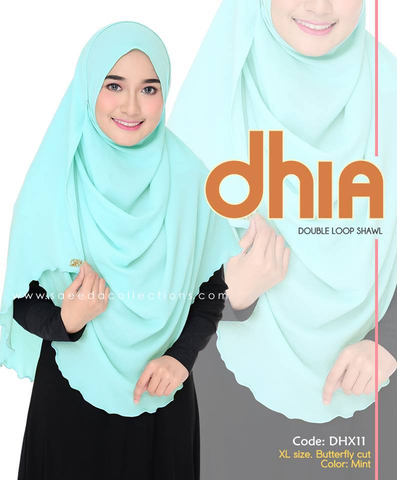 SHAWL DOUBLE LOOP CHIFFON DHIA SAIZ XL DHX11