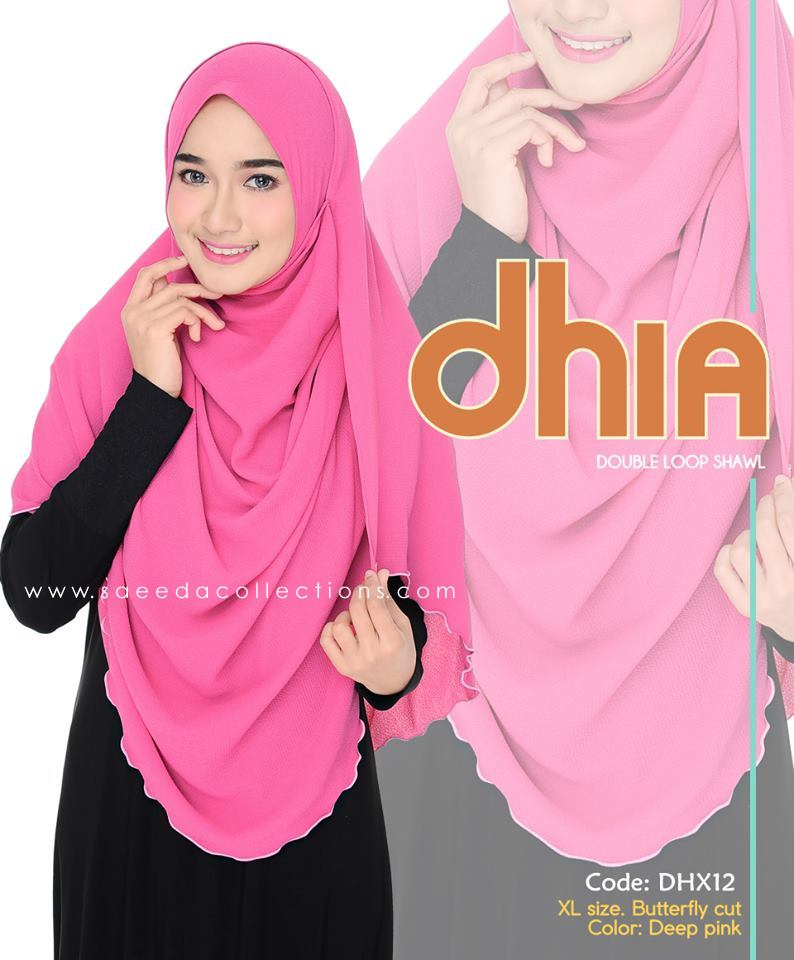 SHAWL DOUBLE LOOP CHIFFON DHIA SAIZ XL DHX12