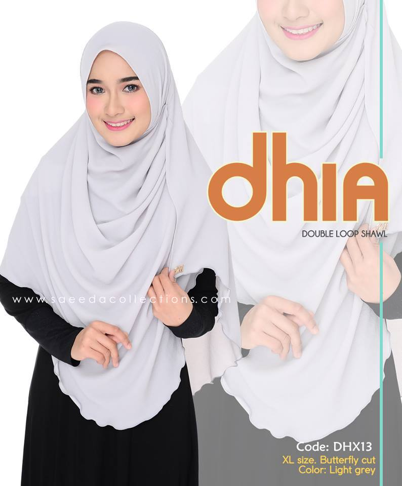 SHAWL DOUBLE LOOP CHIFFON DHIA SAIZ XL DHX13