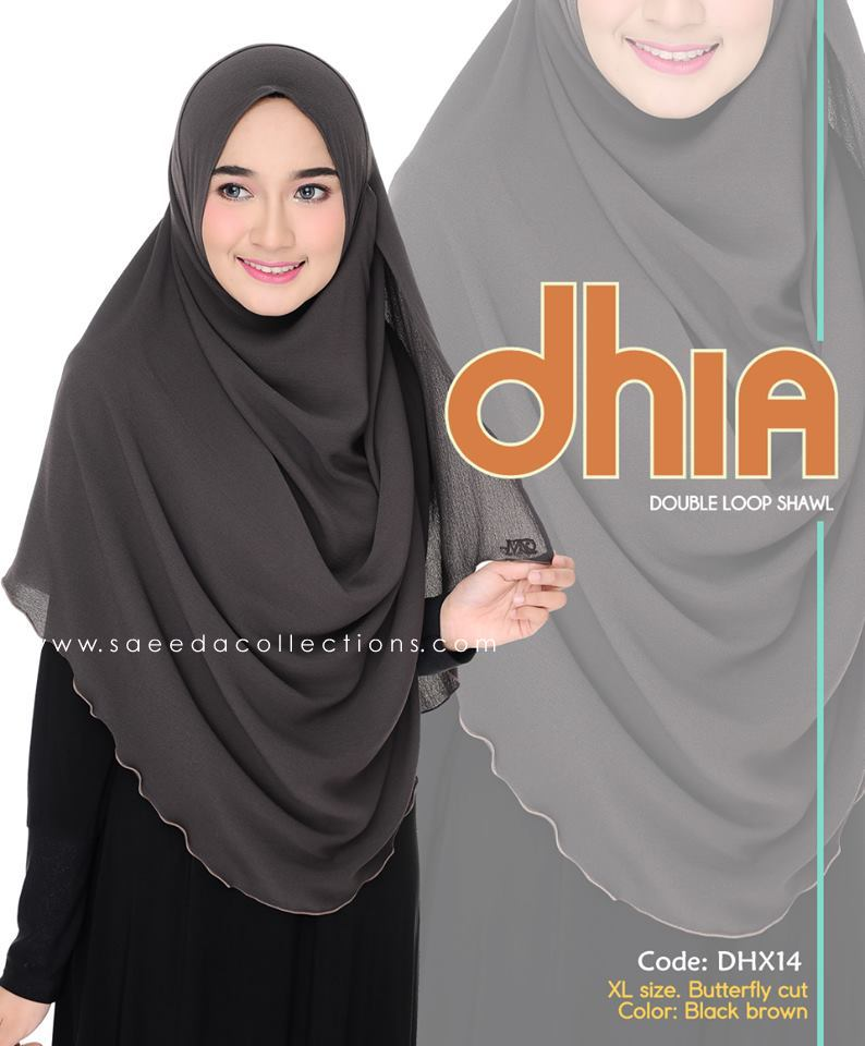 SHAWL DOUBLE LOOP CHIFFON DHIA SAIZ XL DHX14
