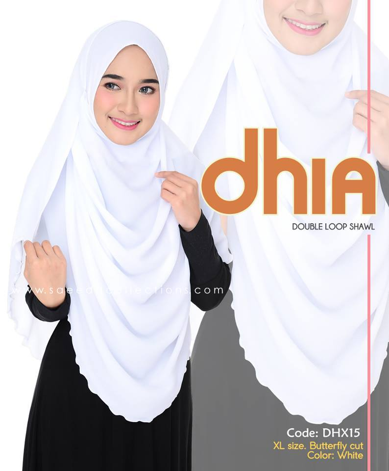 SHAWL DOUBLE LOOP CHIFFON DHIA SAIZ XL DHX15