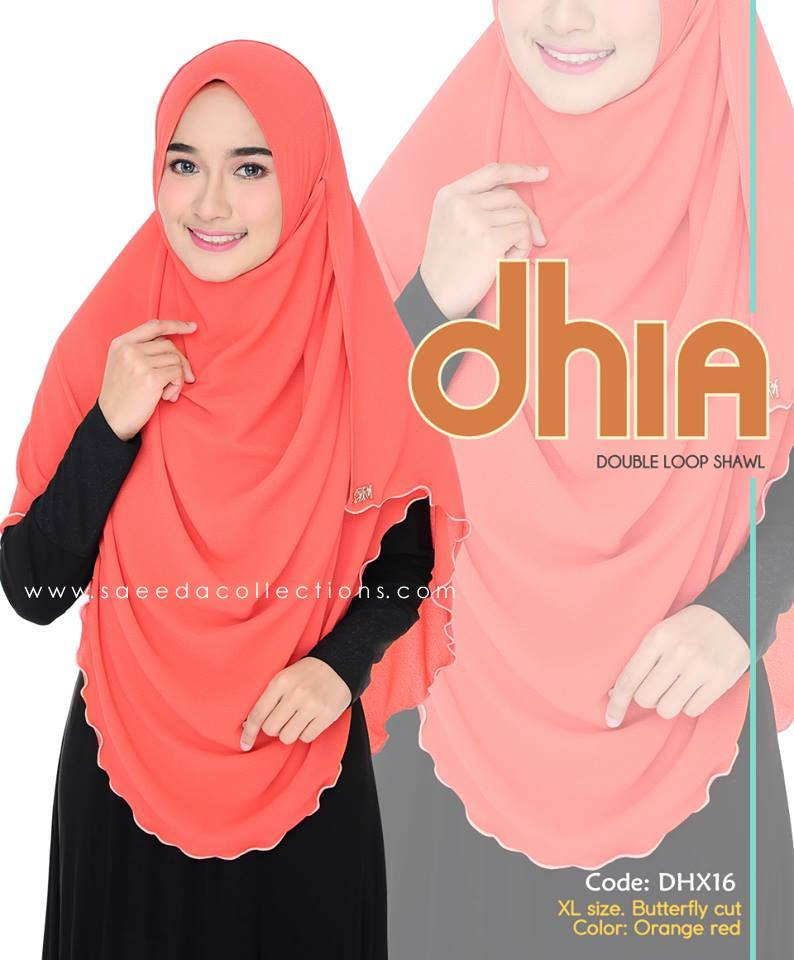 SHAWL DOUBLE LOOP CHIFFON DHIA SAIZ XL DHX16