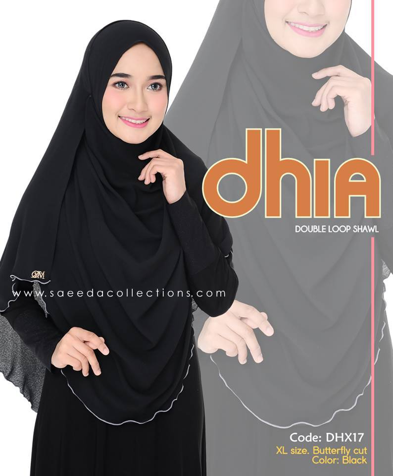 SHAWL DOUBLE LOOP CHIFFON DHIA SAIZ XL DHX17