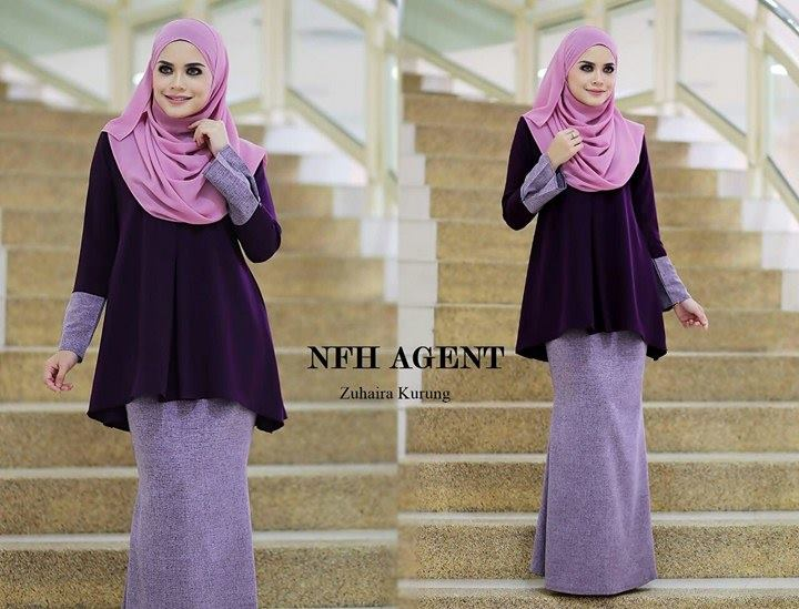 BAJU KURUNG ZUHAIRA TUNIC DARK PURPLE