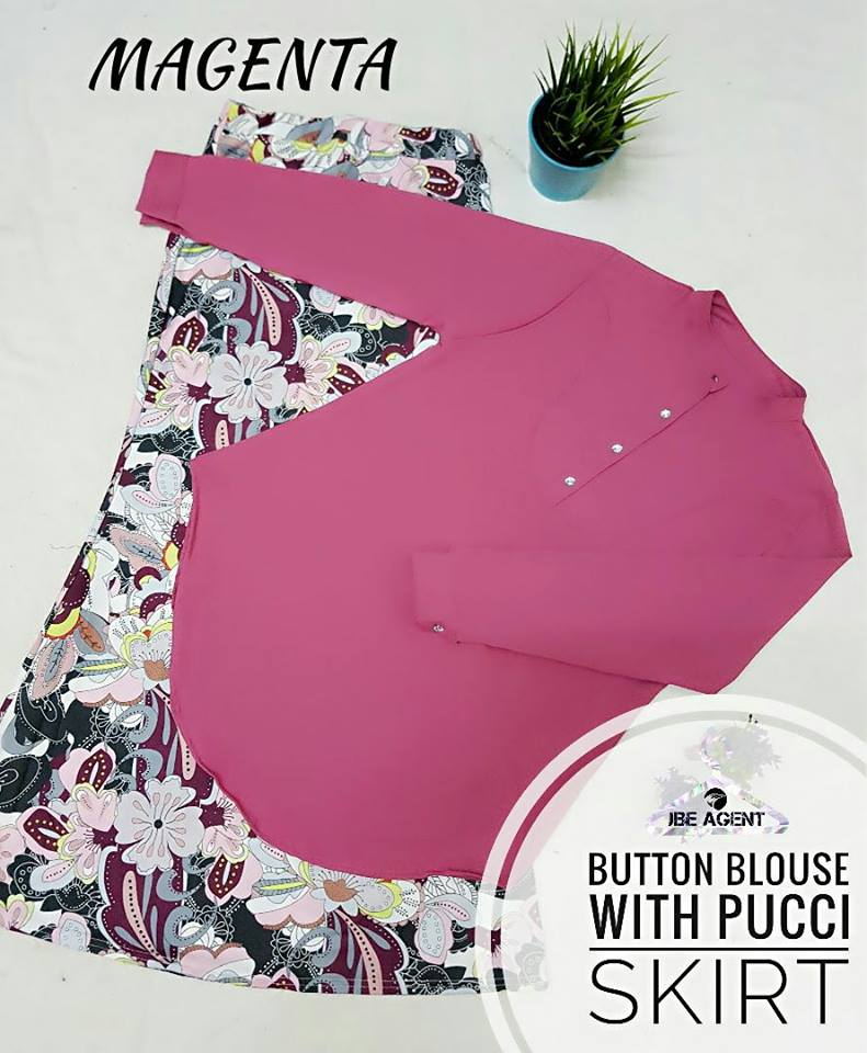 BLOUSE BUTTON PUCCI SKIRT MAGENTA