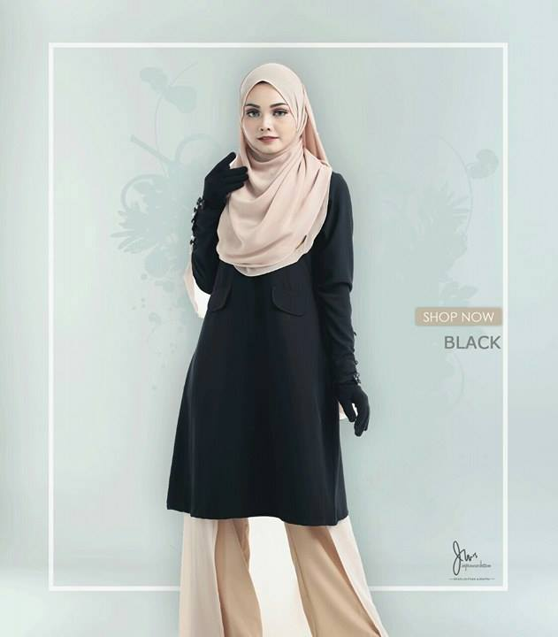 BLOUSE MUSLIMAH CASILDA BLACK
