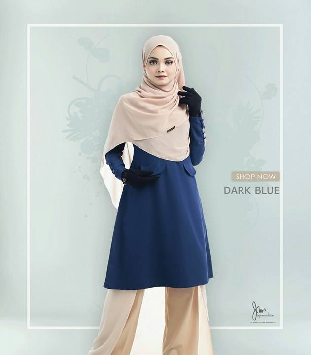 BLOUSE MUSLIMAH CASILDA DARK BLUE