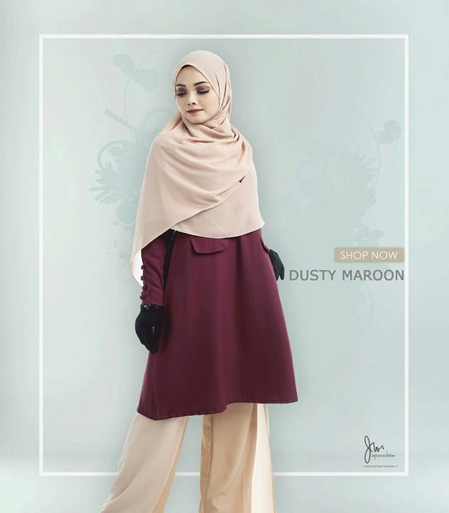 BLOUSE MUSLIMAH CASILDA DUSTY MAROON