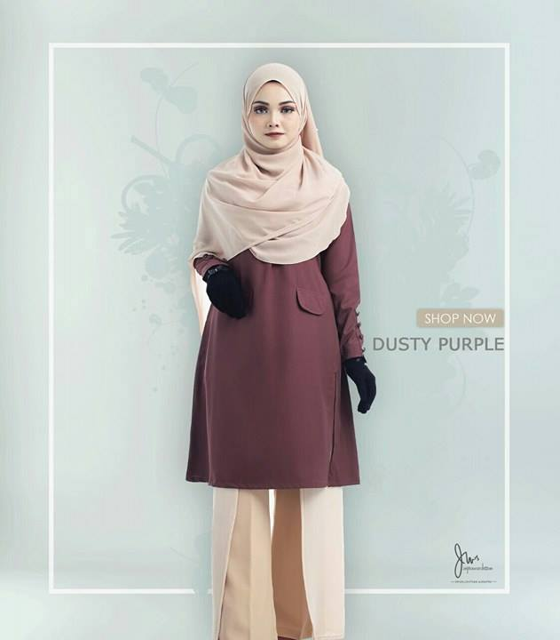 BLOUSE MUSLIMAH CASILDA DUSTY PURPLE