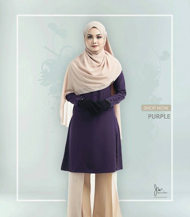 BLOUSE MUSLIMAH CASILDA PURPLE