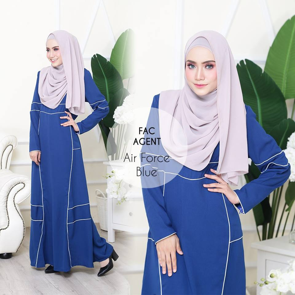 DRESS AAIRA AIRFORCE BUE