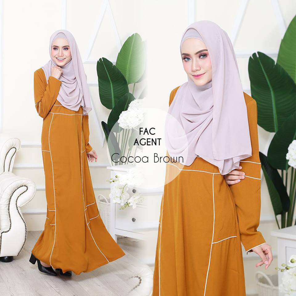 DRESS AAIRA COCOA BROWN