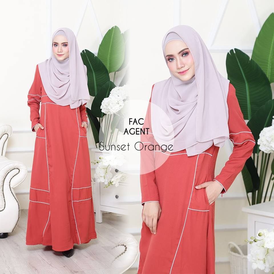 DRESS AAIRA SUNSET ORANGE