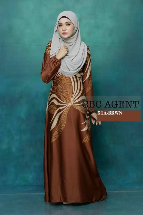 DRESS ADELIA 51A BROWN