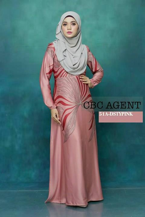 DRESS ADELIA 51A DUSTY PINK