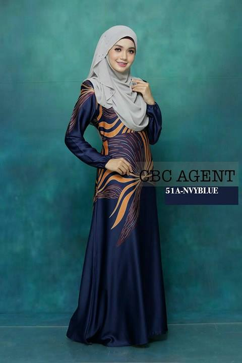 DRESS ADELIA 51A NAVY BLUE
