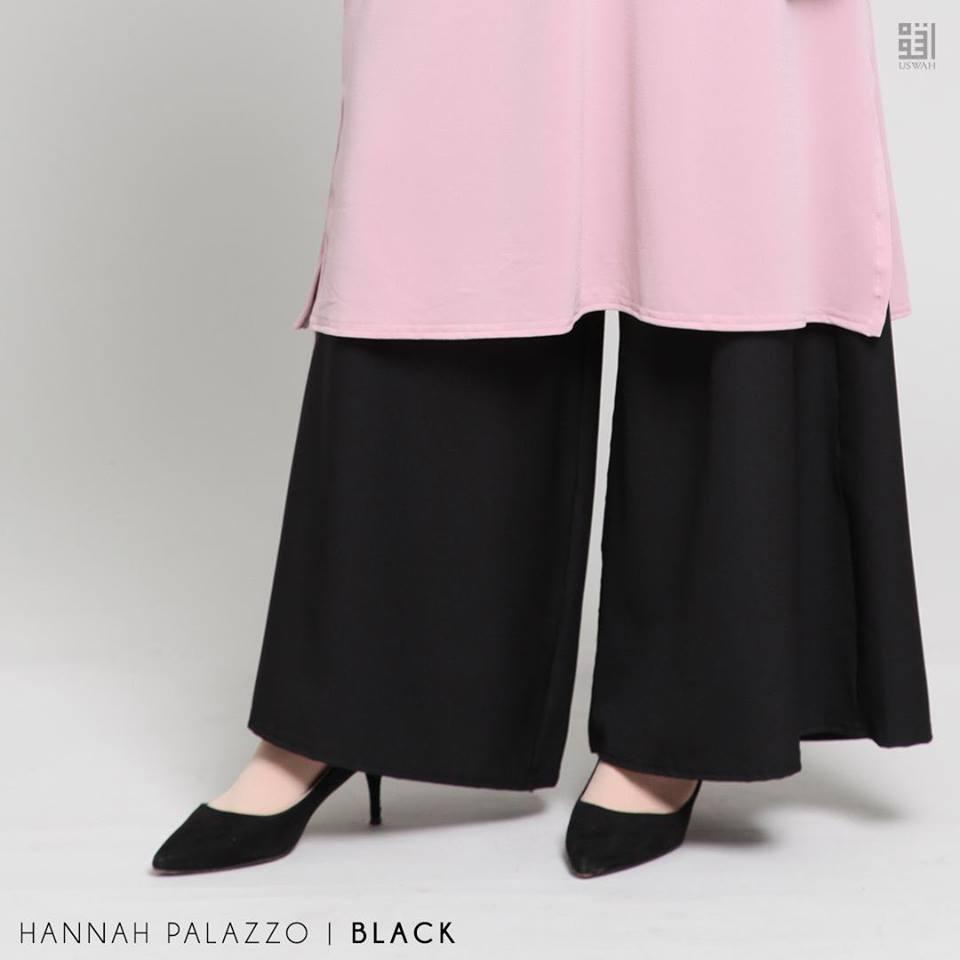 PALAZZO HANNAH BLACK