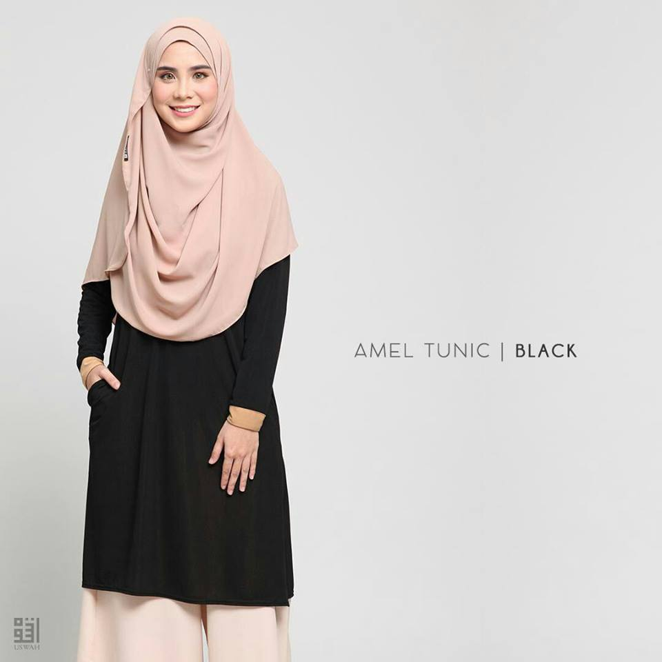 TUNIC MUSLIMAH AMEL BLACK