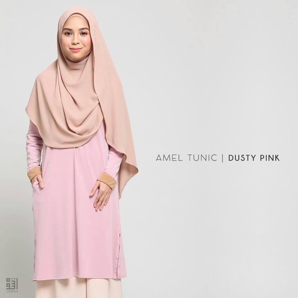 TUNIC MUSLIMAH AMEL DUSTY PINK