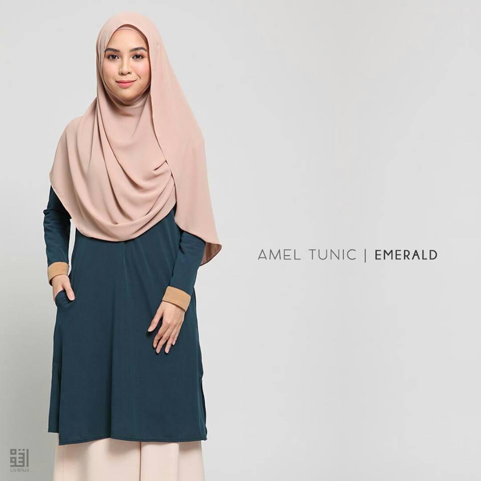 TUNIC MUSLIMAH AMEL EMERALD GREEN