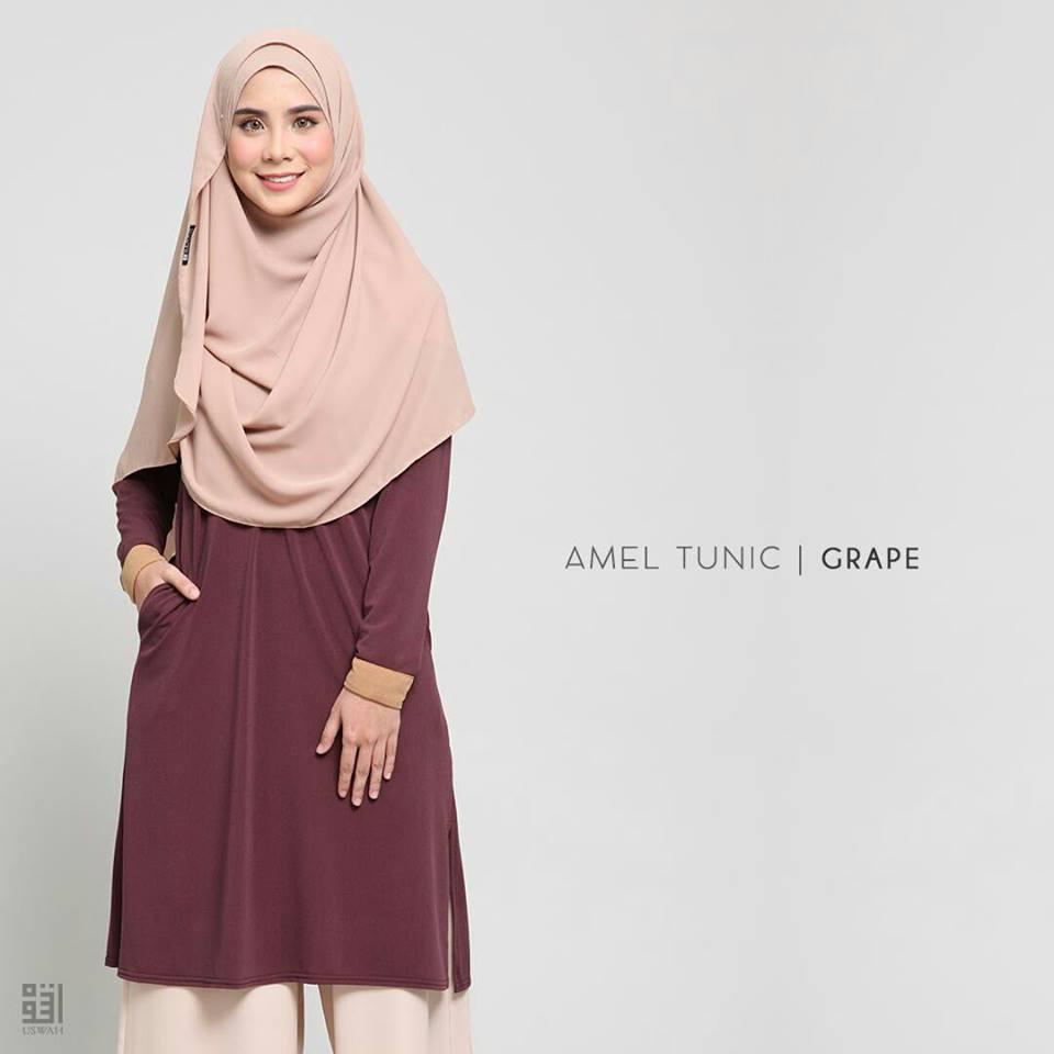 TUNIC MUSLIMAH AMEL GRAPE