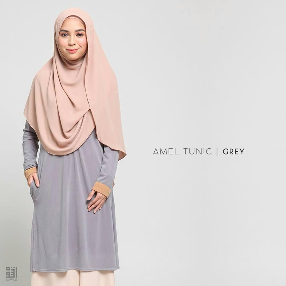 TUNIC MUSLIMAH AMEL GREY