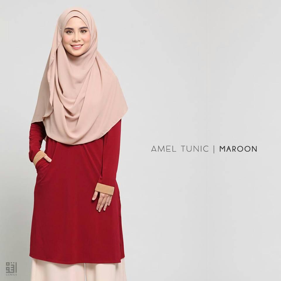TUNIC MUSLIMAH AMEL MAROON