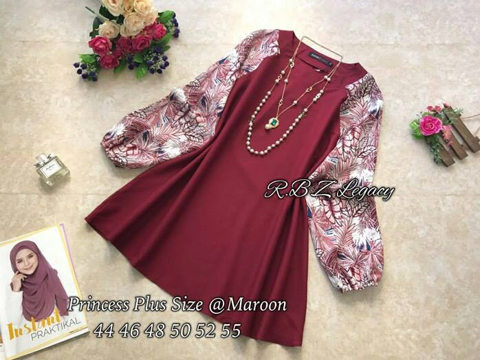 BLOUSE PRINCESS SIZE 22 APR MAROON