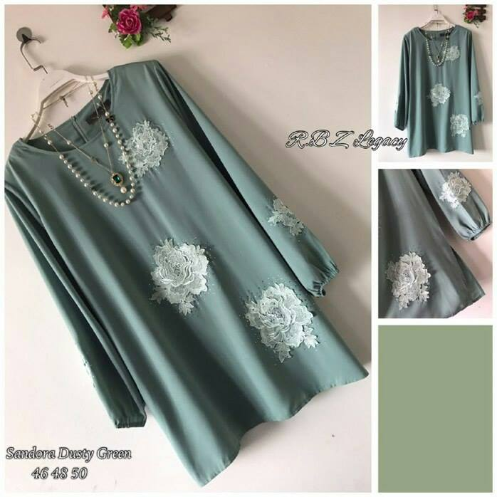 BLOUSE SANDORA DUSTY GREEN