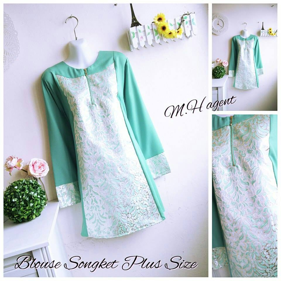 BLOUSE SONGKET PLUS SIZE TEKOIS