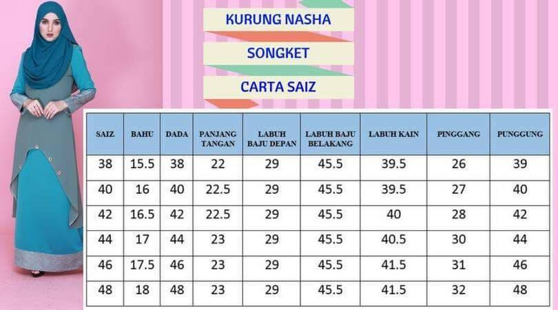 DRESS KURUNG NATASHA SONGKET UKURAN