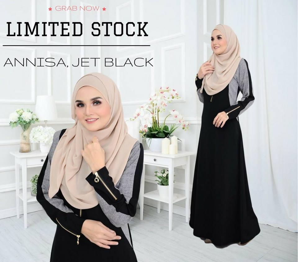 JUBAH ANNISA JET BLACK