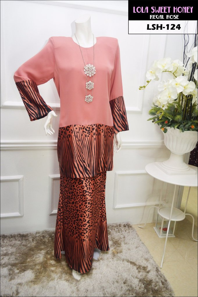 KURUNG MODEN LOLA SWEET HONEY LSH124 A