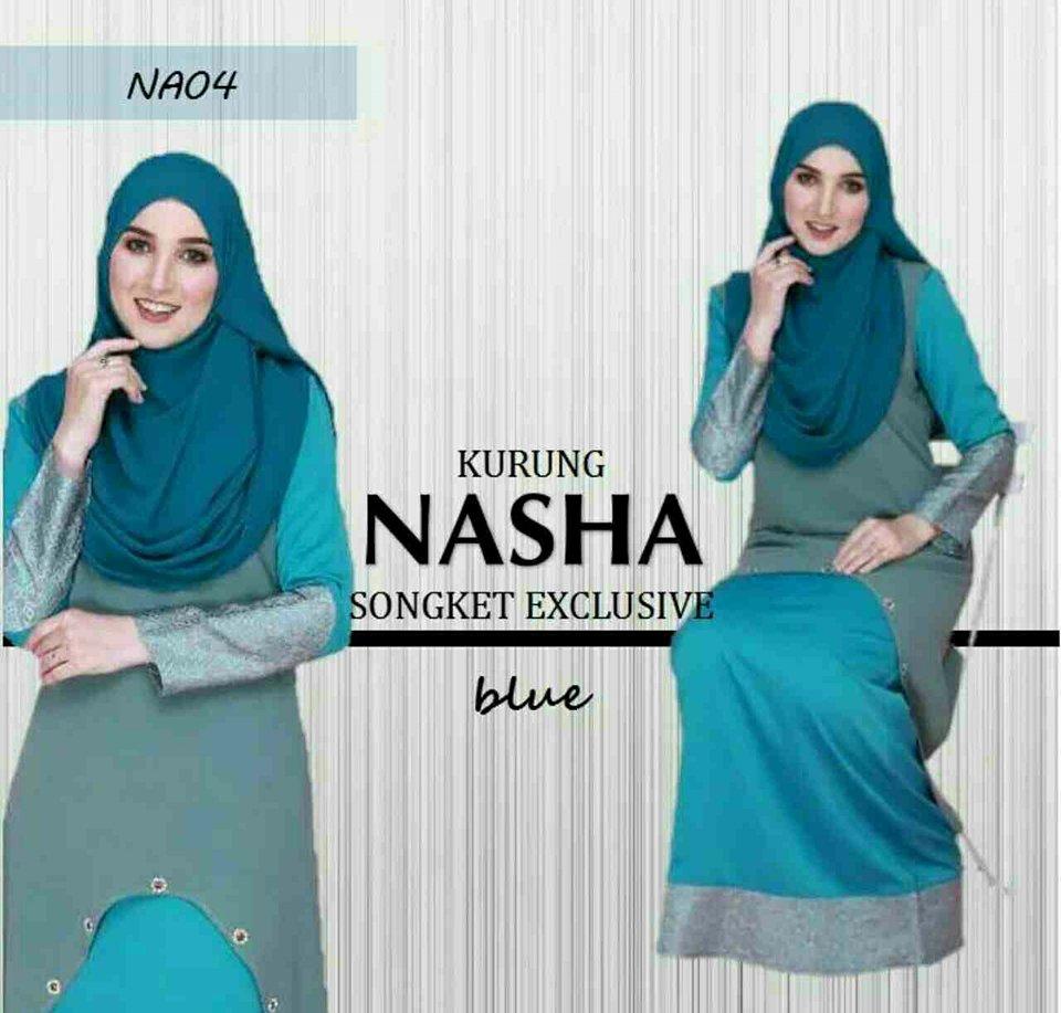KURUNG NASHA SONGKET BLUE